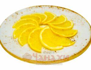 Лимон в нарезке