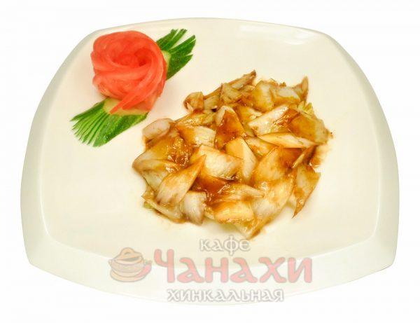 Жареная китайская капуста в кислом соусе