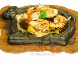 Овощи на раскаленной сковороде