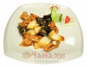 Свинина с китайской капустой и грибами моэр